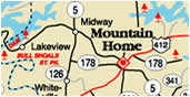 Mountain Home Arkansas and Vicinity Maps